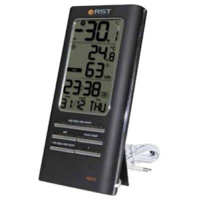 Термогигрометр цифровой  дом/улица, 2 будильника RST 02315
