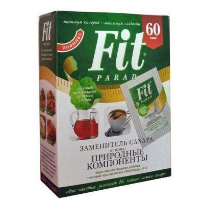 Заменитель сахара ФитПарад № 10, 60 пакетиков в коробке (Сукралоза)