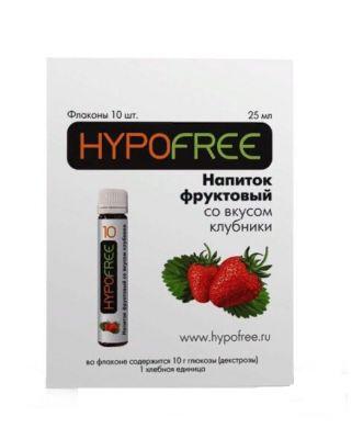 HYPOFREE (Гипофри), клубничный сок во флаконе 1ХЕ