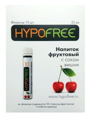 HYPOFREE (Гипофри), вишневый сок во флаконе 1 ХЕ