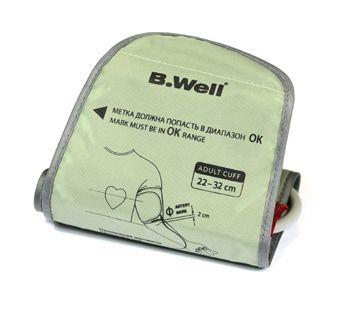 Манжета B.WELL (БиВелл) для автоматических и полуавтоматических тонометров средняя 22-32 см (конусная)