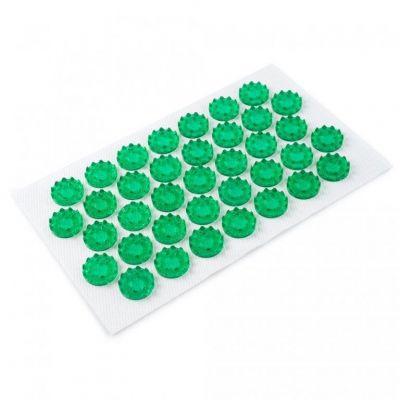 Аппликатор Кузнецова на мягкой подложке зеленый 12 х 22 см для чувствительной кожи