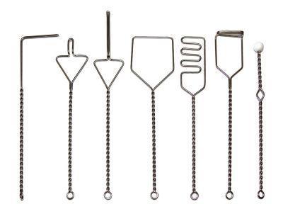 Зонды логопедические (набор из 7 зондов из металла c пластиковым шариком)