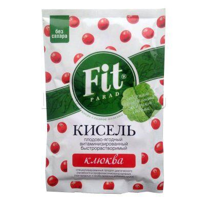 Кисель плодово-ягодный Fit Parad Клюква 30 г