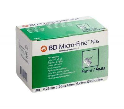 Игла к шприц-ручкам 4 мм BD Micro-Fine Plus (Микро Файн Плюс)