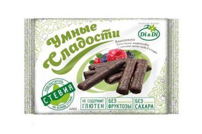"Батончики Di&Di ""Умные сладости"" на стевии без глютена со вкусом лесных ягод 110 г"