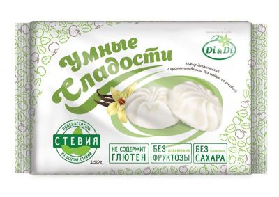 "Зефир Di&Di ""Умные сладости"" на основе стевии со вкусом ванили 150 г"