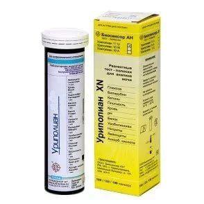 Тест-полоски Уриполиан - 1he (Уригем) № 50 визуальные на гемоглобин