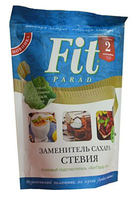 Сахарозаменитель ФитПарад №14 стевия, эритрит (200г)