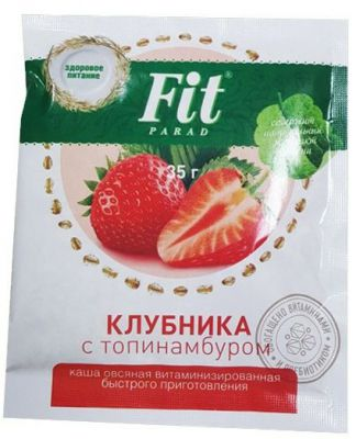 Каша овсяная Fit Parad клубника с топинамбуром, 35 г