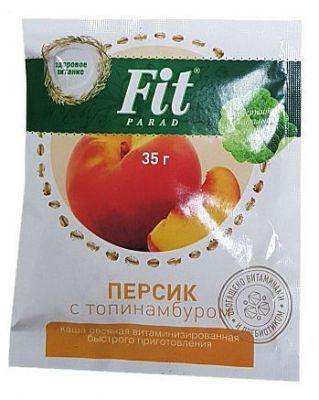 Каша овсяная Fit Parad персик с топинамбуром, 35 г