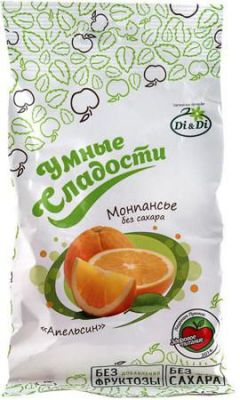 Монпансье DiDi Умные сладости на стевии апельсин 55 г