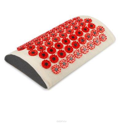 Аппликатор Кузнецова красный на мягкой подложке 28х18 с магнитами для поясницы