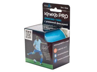 Бинт Кинезио-тейп Kinexib pro адгезивный восстанавливающий 5мх5см, рулон синего цвета