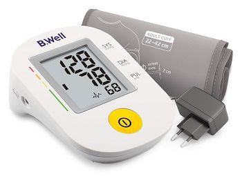 Тонометр B.Well (БиВелл) PRO-36 автоматический, говорящий, конусная манжета 22-42, адаптер в комплекте