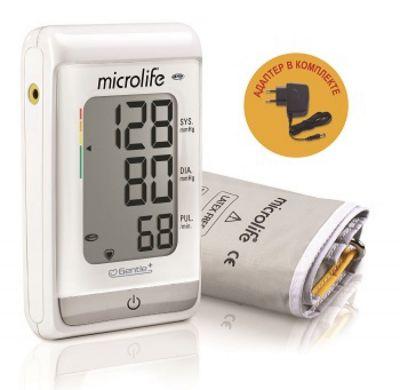 Тонометр Microlife BP A150 автоматический, конусная универсальная манжета 22-42 см, MAM-технология, с адаптером