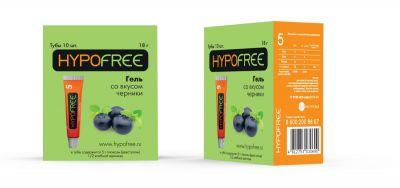 HYPOFREE (Гипофри) гель в тюбике 0,5 ХЕ вкус черники (коробка из 10 тюбиков)