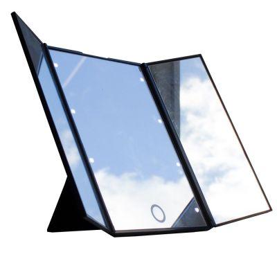 Зеркало косметическое складное GESS uLike Porto с LED -подсветкой