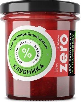 Джем ZERO Mr.Djemius низкокалорийный вкус клубники, 270 г
