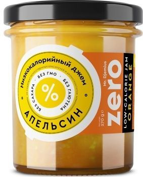 Джем ZERO Mr.Djemius низкокалорийный вкус апельсина, 270 г
