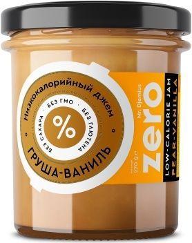 Джем ZERO Mr.Djemius низкокалорийный вкус груша-ваниль, 270 г