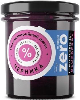 Джем ZERO Mr.Djemius низкокалорийный вкус черники, 270 г