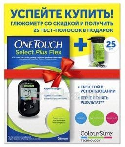 Глюкометр One Touch Select Flex Plus+ 25 тест-полосок