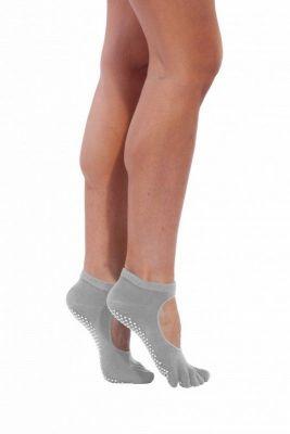 Носки противоскользящие для занятий йогой, открытые