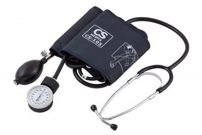 Тонометр СиЭс Медика CS-105 механический, манжета 22-38 см,  встроенный стетоскоп