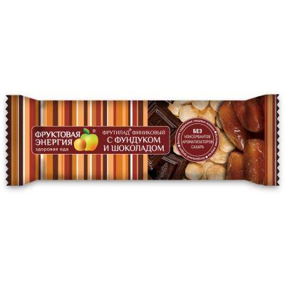 """Батончик """"Фрутилад"""" Финиковый с фундуком и шоколадом 42 г"""