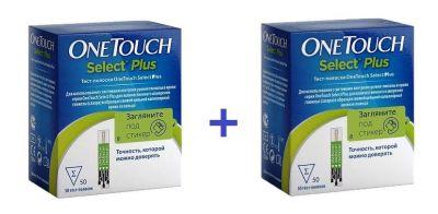 Тест-полоски One Touch Select PLUS № 50 х 2