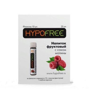 HYPOFREE (Гипофри), малиновый сок во флаконе 1 ХЕ