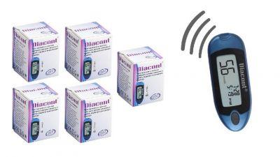 Набор говорящий глюкометр Diacont + 5 упаковок тест-полосок Diacont №50