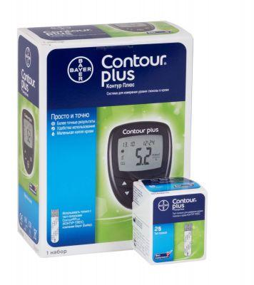 Глюкометр Contour PLUS (Контур Плюс) + 25 тест-полосок