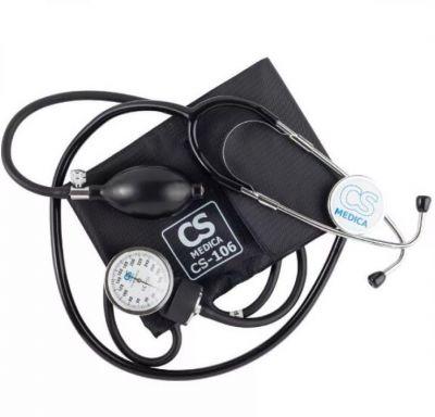 Тонометр СиЭс Медика CS-106 механический, манжета 22-42 см,  со стетоскопом