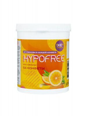 HYPOFREE (Гипофри) банка из 54 конфет со вкусом апельсина