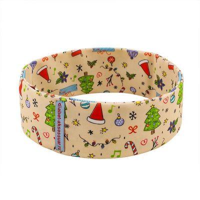 """Пояс для ношения помпы INSULA KIDS """"Рождество"""" бежевый, размер S (55-65 см)"""