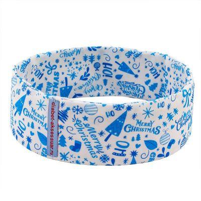"""Пояс для ношения помпы INSULA KIDS """"Рождество"""" голубой, размер S (55-65 см)"""