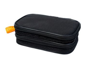 Сумка-термос FREEPACK с 2 отделениями и гелевым пакетом 12х20 см, чёрная