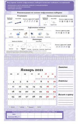 Календарь смены инфузионных наборов 2021