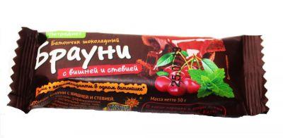 """Батончик """"Петродиет"""" Брауни шоколадный на стевии 50 г"""