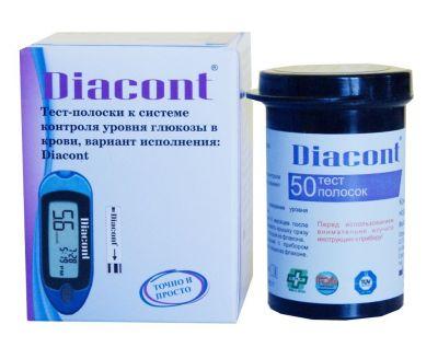 Тест-полоски Diacont (Диаконт) № 50