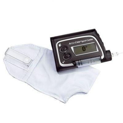 Чехол для ношения инсулиновой помпы на бюстгальтере белый