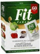 Сахарозаменитель ФитПарад № 7 (стевиозид, эритрит, сукралоза) 60 пакетиков-саше в коробке
