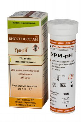 Тест-полоски Ури-pH № 50